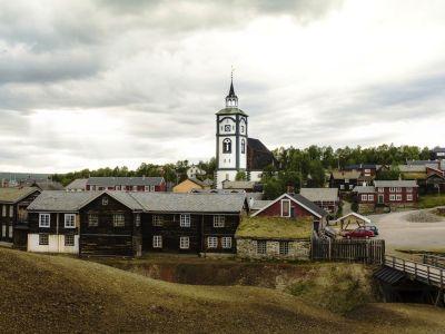 Het oude mijnwerkers stadje Roros (UNESCO)