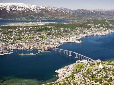 Tromso, de grootste stad van Noord Noorwegen
