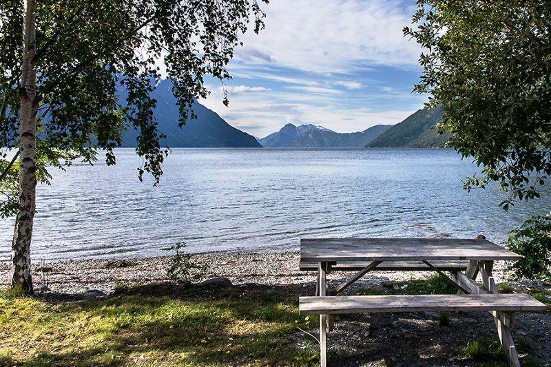 Arskogvika Camping uitzicht