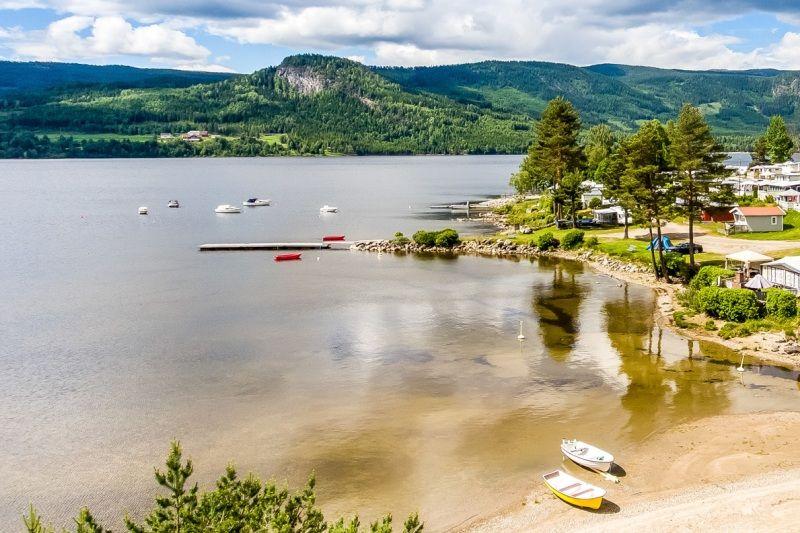 Buttingsrud Camping ligging tussen Oslo en Fagernes