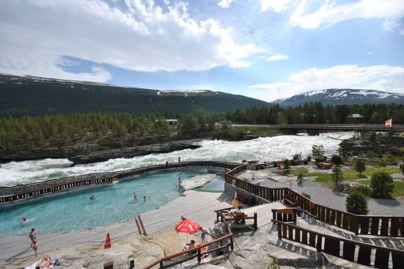 Donfoss Camping ligging aan rivier