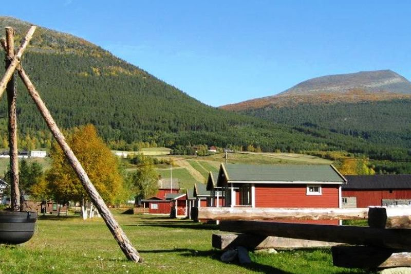 Dovreskogen Camping Hytter en uitzicht