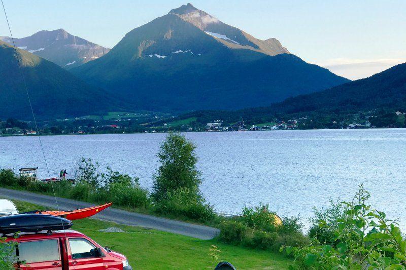 Fagervik Camping uitzicht