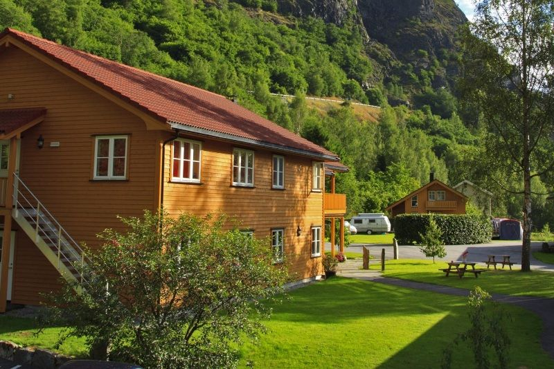 Flam Camping og Vandrarheim accommodaties