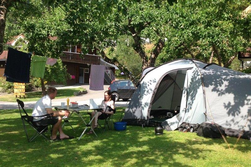 Flam Camping og Vandrarheim tentplaatsen