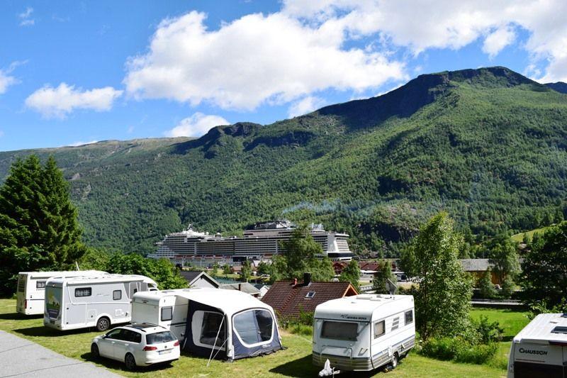 Flam Camping og Vandrarheim uitzicht