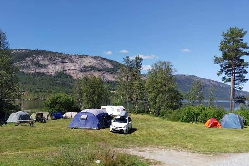 Fossumsanden Camping Fyresdal ligging