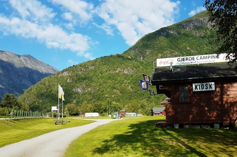 Gjerde Camping Valldal entree