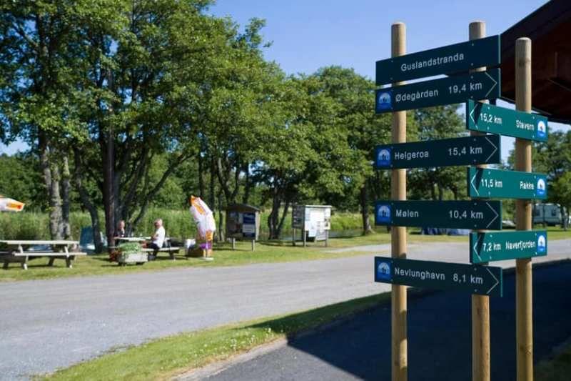 Guslandstranda Camping wandelen en fietsen
