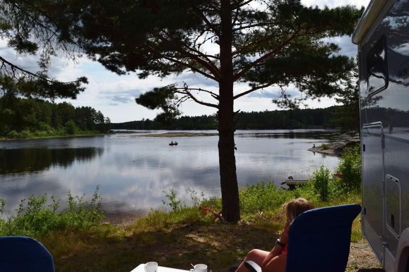 Kilefjorden Camping kamperen aan de rivier