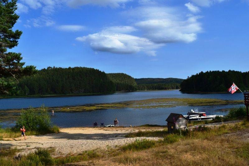 Kilefjorden Camping strandje