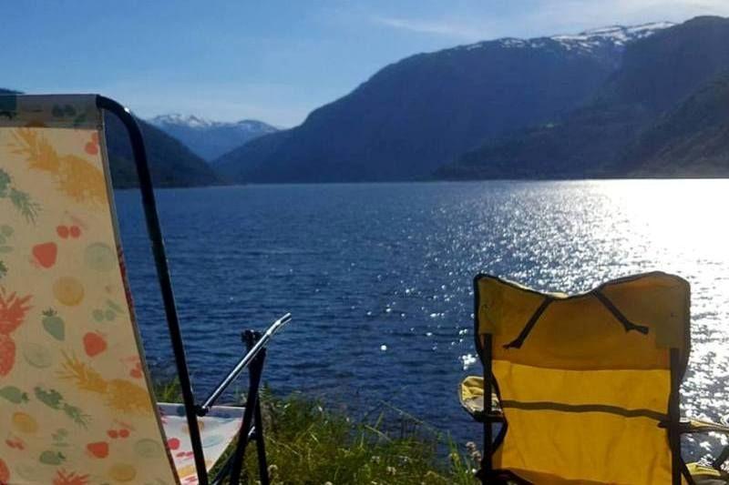 Kjornes Camping Sogndal uitzicht