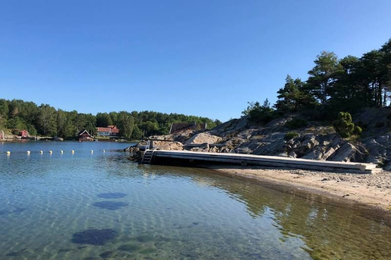 Kristiansand Feriesenter baai met strandje