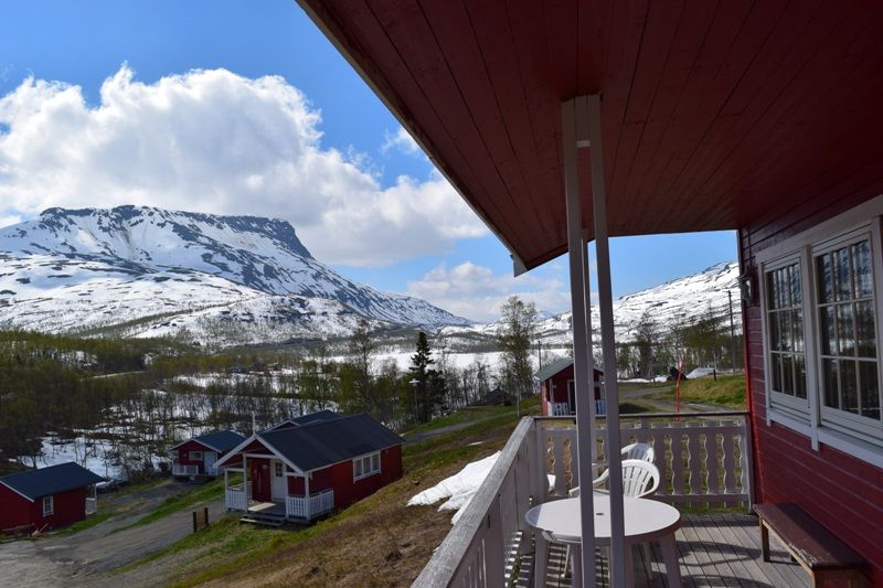 Lapphaugen Turiststasjon uitzicht hytter