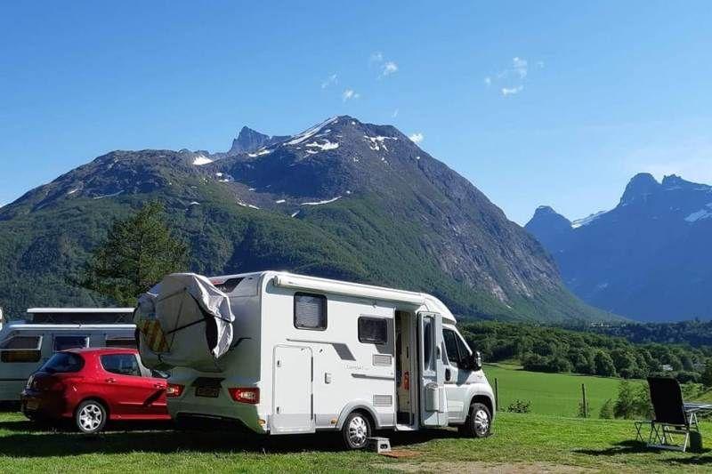 Mjelva Camping uitzicht