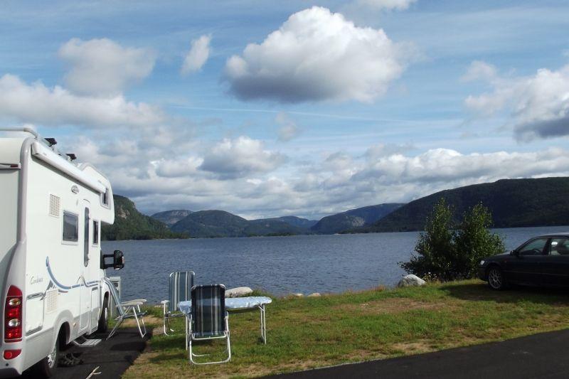 Neset Camping Byglandsfjord Kampeerplaatsen