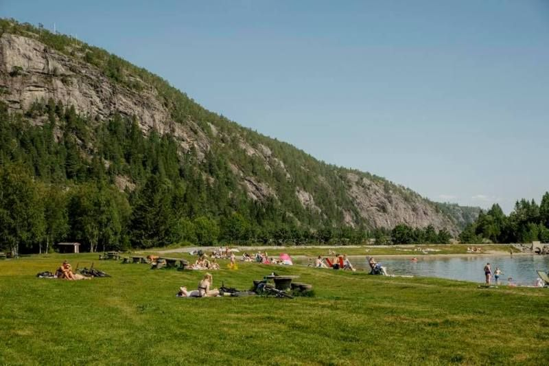 PlusCamp Namsos Camping zwemmen en zonnen