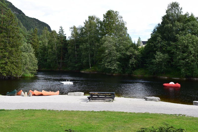 Sanda Camping og Hytteutleie rivier
