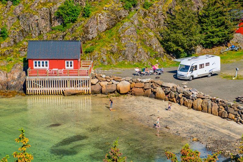 Sandvika Fjord og Sjohus Camping Hytter