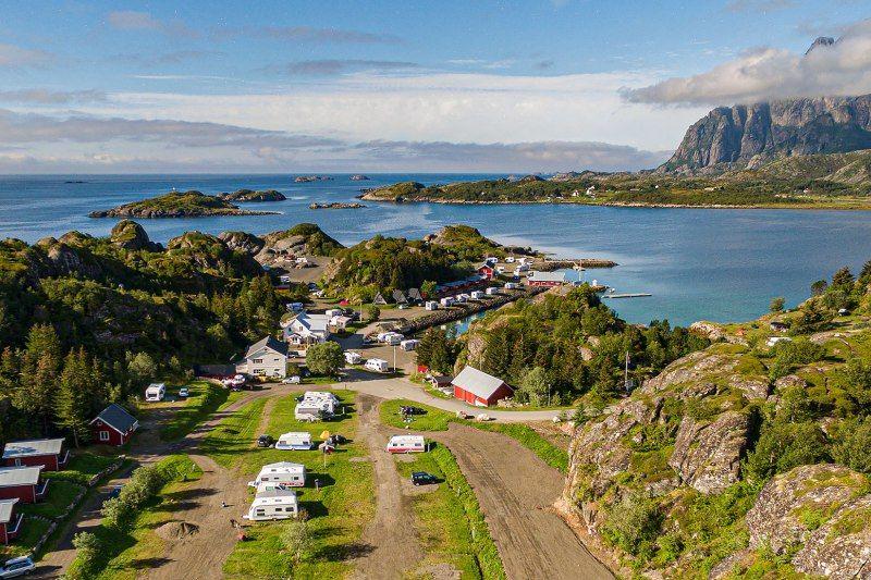Sandvika Fjord og Sjohus Camping natuurschoon