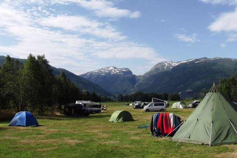 Seim Camping Roldal kampeerplaatsen