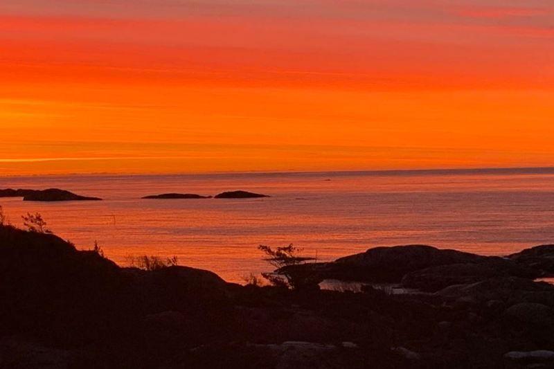 Skottevik Feriesenter sunset