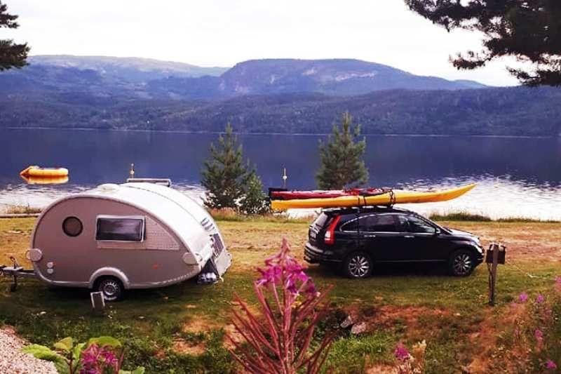 Sperillen Camping ligging aan meer