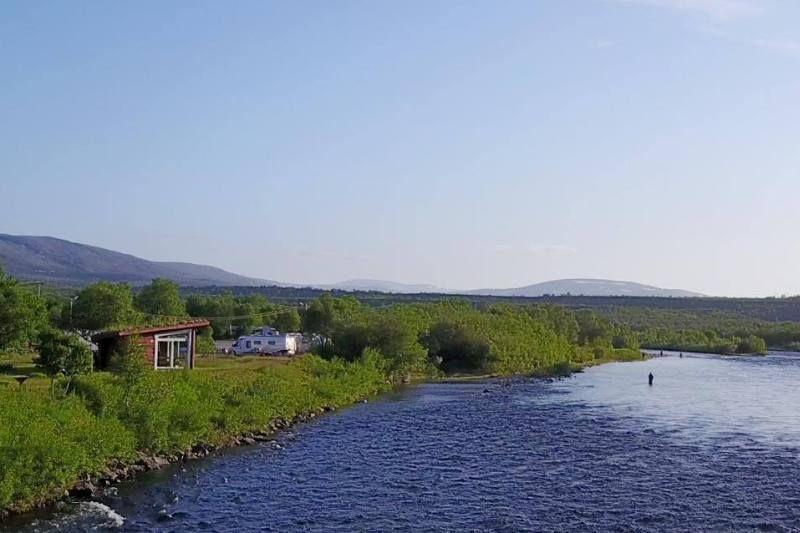 Stabbursdalen Resort ligging aan rivier