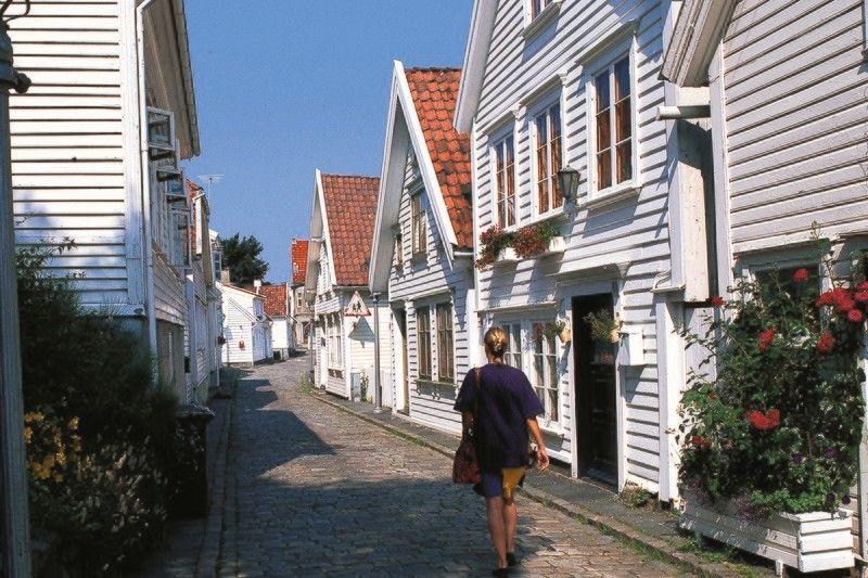 Stavanger Camping bezoek oude centrum