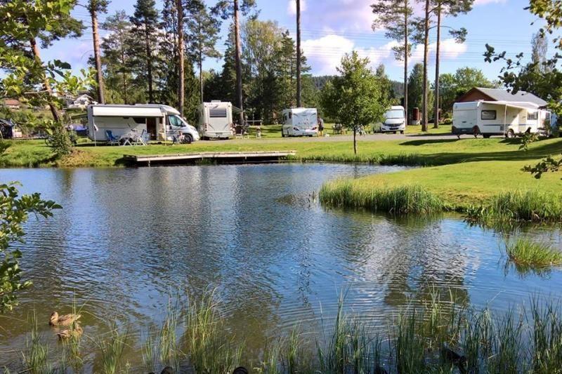 Telemark Kanalcamping kampeerplaatsen