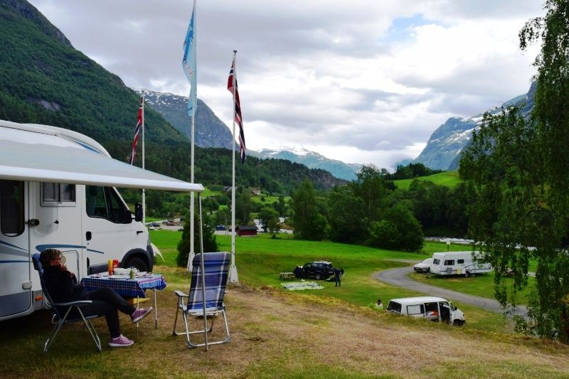 Tjugen Camping uitzicht