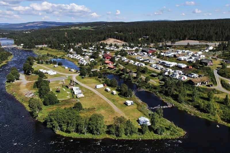 Vasetdansen Camping ligging in Valdres
